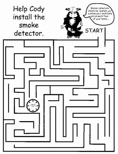 Maze Smoke Mazes Detector Printable Safety Fire