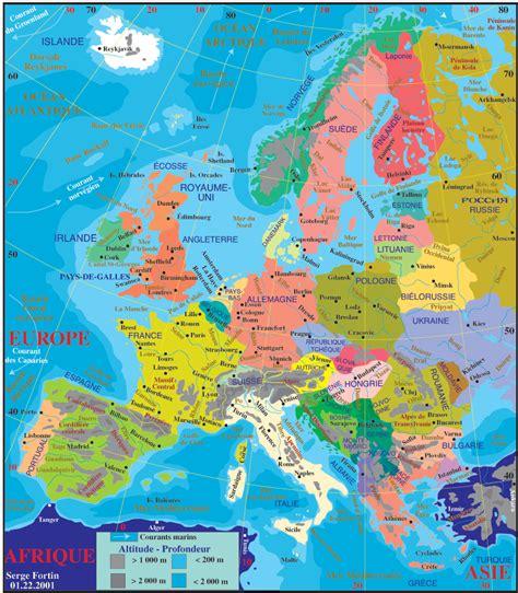 La Carte Du Monde Europe by Carte Du Monde Europe Voyages Cartes
