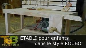 Etabli Fait Maison : travail du bois construction d 39 un petit tabli youtube ~ Premium-room.com Idées de Décoration