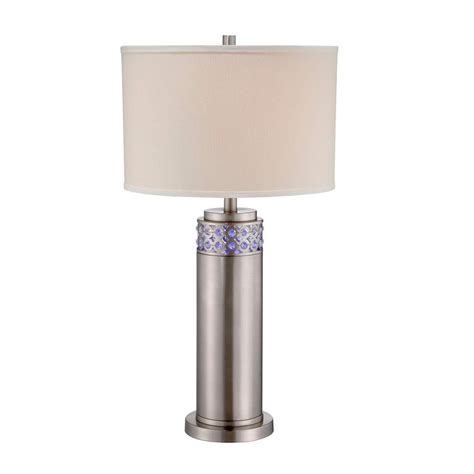 table ls at home depot illumine designer 30 5 in stainless steel cfl led table