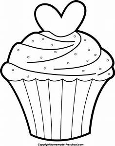 Cupcake Clip Art Black And White | Clipart Panda - Free ...