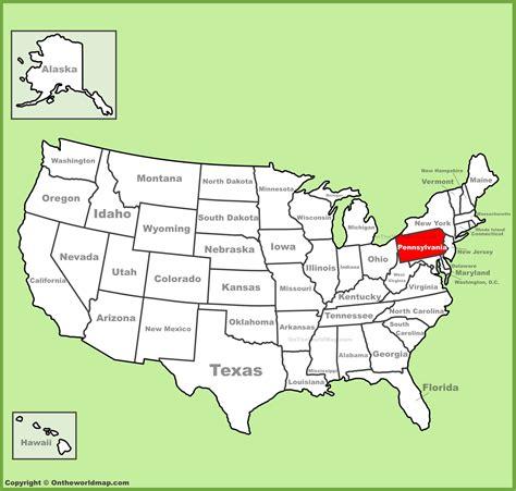 pennsylvania location on the u s map