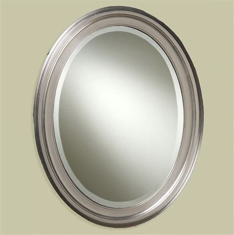 oval bathroom mirrors brushed nickel home design ideas