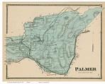 Palmer, Massachusetts 1870 Old Town Map Reprint - Hampden ...