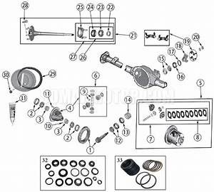 Rear Axle Diagram For Dana 35 Grand Cherokee Wj  1999