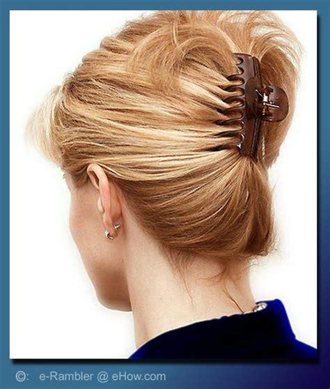 create  lazy girl updo hairstyle hair clip