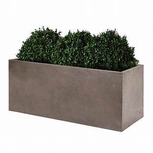 Bac Plantes Exterieur Castorama : bac fleurs fibre de terre clayfibre l80 h40 cm taupe ~ Dailycaller-alerts.com Idées de Décoration