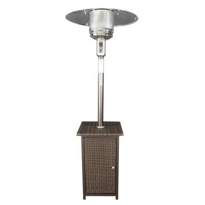 home comfort gas patio heater with wicker stand l m