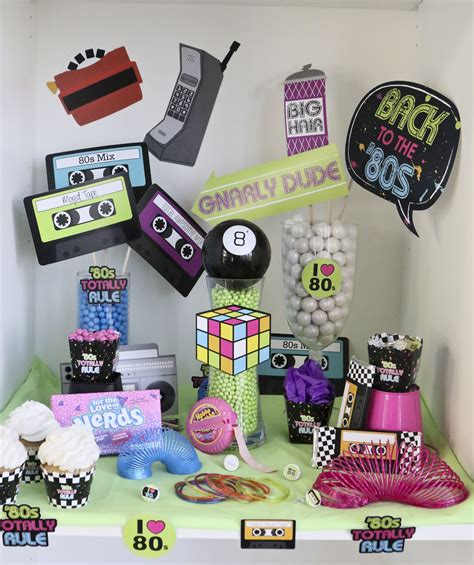 retro  party ideas totally  party awesome