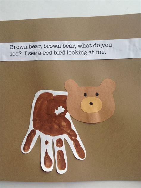 brown bear handprint art bear crafts teddy bear crafts