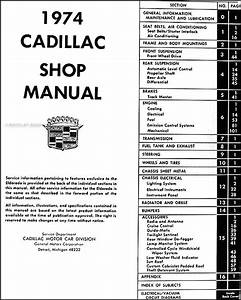 1974 Cadillac Repair Shop Manual Original