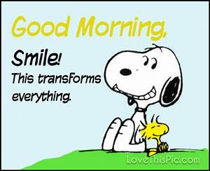 Good Morning Snoopy : snoopy good morning smile pictures photos and images for facebook tumblr pinterest and twitter ~ Orissabook.com Haus und Dekorationen