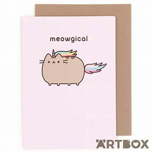 Buy Pusheen Meowgical Cat Pusheenicorn Unicorn Greeting ...