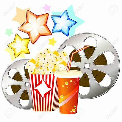 Popcorn Clipart Watching Film Reel Cinema Reels