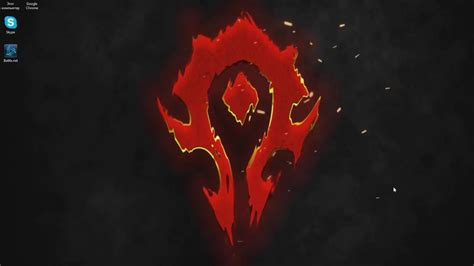 World Of Warcraft Animated Wallpaper - horde logo animated wallpapers