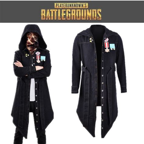 PUBG Playerunknownu0026#39;s Battlegrounds Denim Jacket Coat Trench Cosplay Costume | eBay