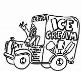 Ice Cream Truck Pages Drawing Coloring Sandwich Colouring Template Sheet Sketch Getdrawings Sundae sketch template