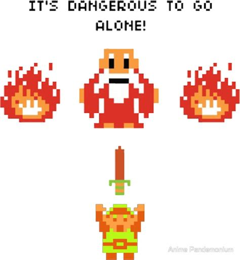 Its Dangerous To Go Alone Legend Of Zelda Stickers By