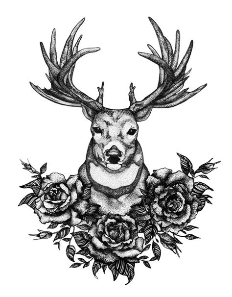Best 20  Stag tattoo design ideas on Pinterest   Elk tattoo, Deer tattoo girls and Deer tattoo