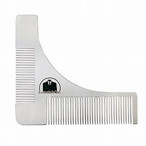 essentials beard shaper comb for shaving symmetric With goatee trimming template