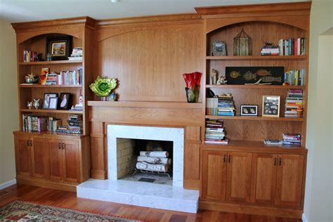 mid century modern bookcase with glass crafted built in bookcases fireplace surround by