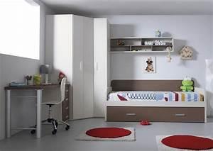 Lit Avec Armoire : acheter votre lit gigogne avec armoire d 39 angle et bureau chez simeuble ~ Teatrodelosmanantiales.com Idées de Décoration