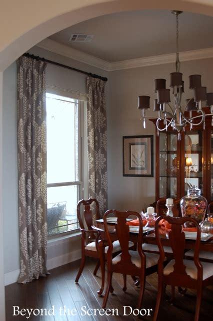 gray ivory damask dining room window treatments sonya