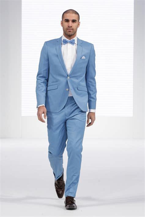 arrival light blue formal men suit slim fit prom