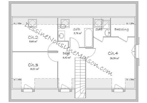 plan maison à étage 3 chambres plan de maison traditionnelle gratuit plan maison plain
