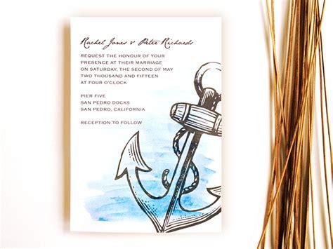 ahoy matey nautical wedding invitation 3 ways