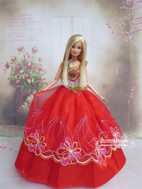 boneka wedding doll dress in colour gowns