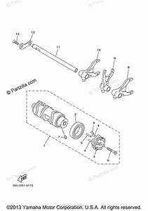 Yamaha Motorcycle 2006 Oem Parts Diagram For Shift Cam