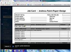 Job Card Template Excel calendar template excel