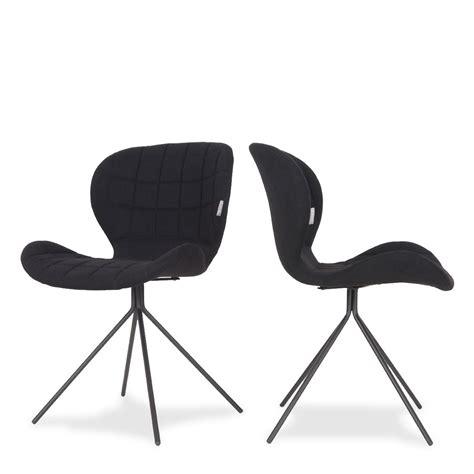 chaise design noir lot de 2 chaises design zuiver noir mobilier achat com