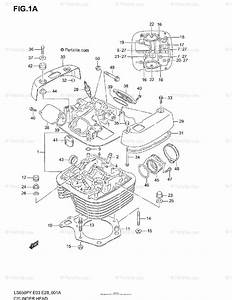 Suzuki Motorcycle 2003 Oem Parts Diagram For Cylinder Head