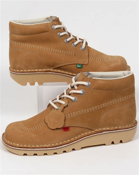 boots kulit kickers kick hi boots in nubuck mens