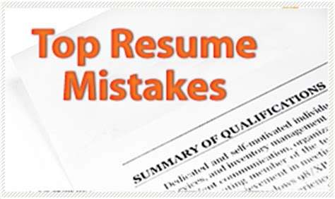 Worst Mistakes On Resumes by Top Resume Mistakes Federal Career Experts