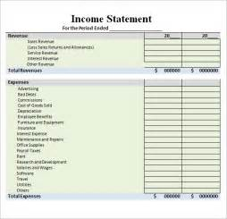 Income Statement Spreadsheet Sle Income Statement Template 9 Free Documents In Pdf Word Excel