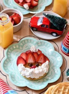 christmas inspired breakfast themed foods fork and beans