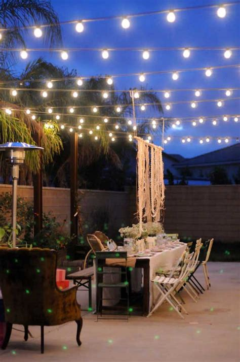 how to string lights outside 26 breathtaking yard and patio string lighting ideas will