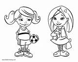 Girly Coloring Pages Sports Printable Adults sketch template