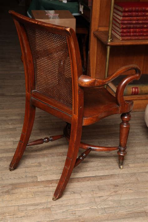 desk chair saddle seat mohagany mahogany office 1stdibs chairs seating furniture