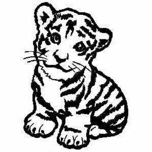 Baby Jungle Animals Coloring Pages | baby tiger embroidery ...