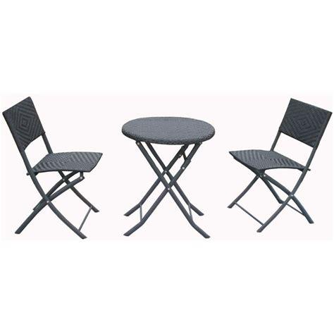 Ensemble pour balcon en resine tressee avec table - Achat / Vente salon de jardin Ensemble pour ...