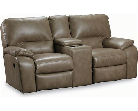 double recliner sofa with console lane thad double reclining console loveseat