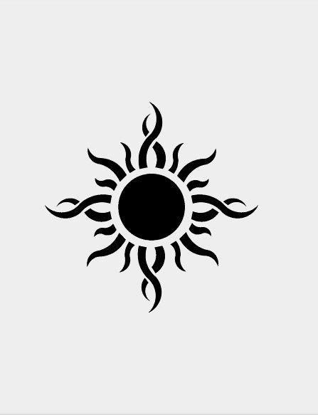 25 Scorching Sun Tattoo Design & Ideas | Sun tattoo tribal, Sun tattoos, Sun tattoo designs