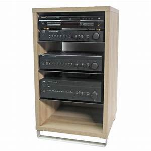 Meuble Hifi Bois : de conti ampio hi fi bois hickory meuble tv de conti sur ~ Voncanada.com Idées de Décoration