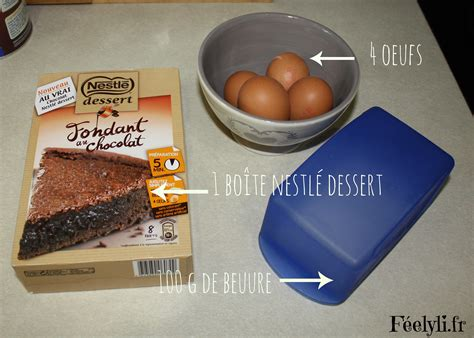 fondant au chocolat nestl 233 dessert f 233 elyli