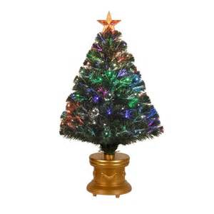national tree company 3 ft fiber optic artificial christmas tree with revolving leds szrx7 100r