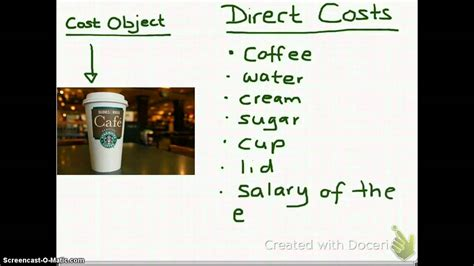23 Cost Object, Direct Costs And Indirct Costs  Youtube